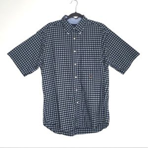 Tommy Hilfiger Gingham Navy Green Button Up Shirt